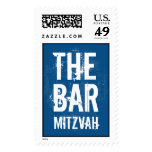 Rock Band Bar Mitzvah Stamp in Blue