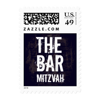 Rock Band Bar Mitzvah Stamp, Small Postage Stamp
