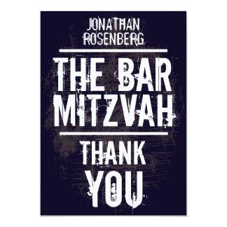 Rock Band Bar Mitzvah Thank You Card - All Type