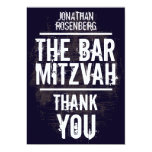 Rock Band Bar Mitzvah Thank You Card - All Type Invite