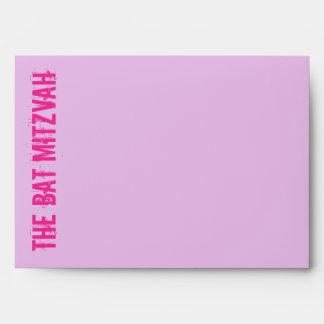 Rock Band Bat Mitzvah Invitation Envelope in Pink