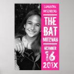 Rock Band Bat Mitzvah Poster in Pink