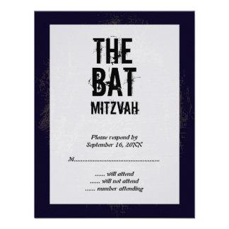 Rock Band Bat Mitzvah Reply Card Custom Announcements