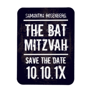 Rock Band Bat Mitzvah Save the Date Magnet, Black Magnet