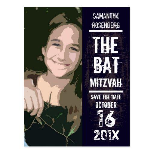 Rock Band Bat Mitzvah Save the Date Postcard