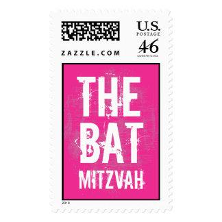 Rock Band Bat Mitzvah Stamp in Pink, Large