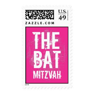 Rock Band Bat Mitzvah Stamp in Pink Medium