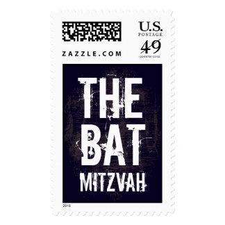Rock Band Bat Mitzvah Stamp Large