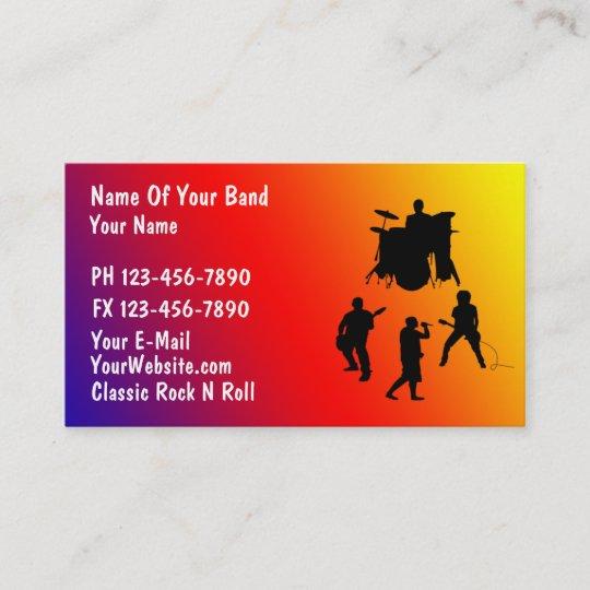 Rock band business card zazzle rock band business card colourmoves
