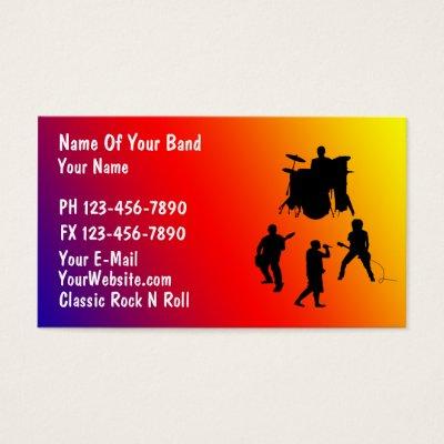 Musician jazz club business card zazzle colourmoves