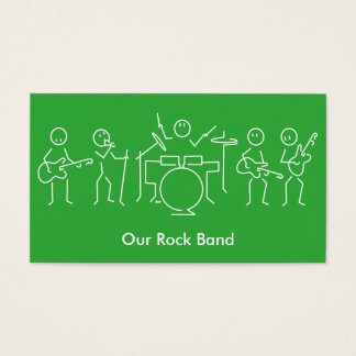 Rock band Business card