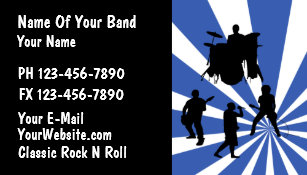 Rock band business cards templates zazzle rock band business card colourmoves