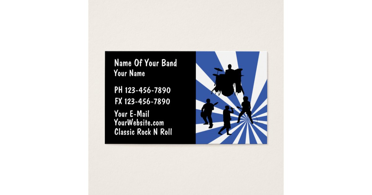 Rock Band Business Cards & Templates | Zazzle