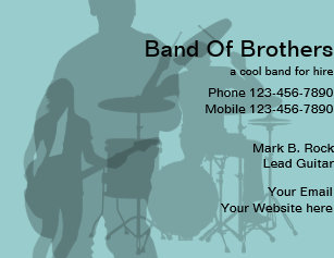 Rock band business cards zazzle rock band business cards colourmoves
