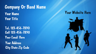 Rock band business cards templates zazzle rock band business cards colourmoves