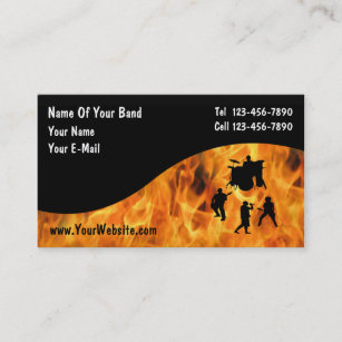 Band business cards templates zazzle rock band business cards colourmoves