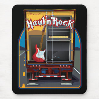Rock Band Guitar Truck Mouse Pad