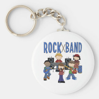 Rock Band Kids Gift Basic Round Button Keychain