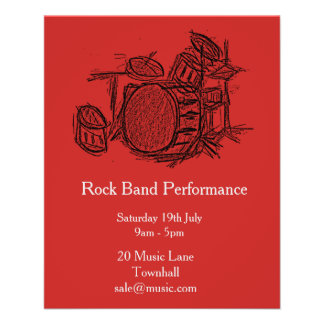 Rock band music performance flyer