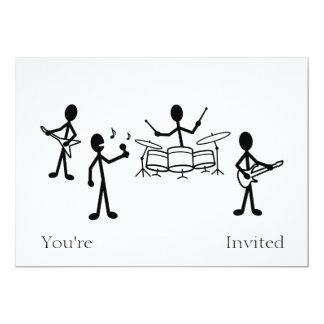 Rock Band Stick Figure Card