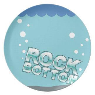 Rock Bottom Hitting words design Melamine Plate