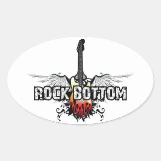 Rock Bottom (Stickers) Oval Sticker