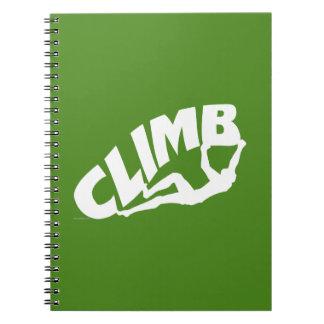 Rock Bouldering Notebooks