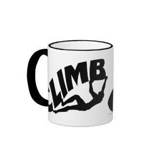 Rock Bouldering Ringer Mug