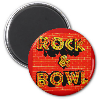 ROCK BOWL 2 INCH ROUND MAGNET
