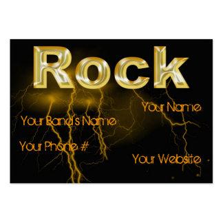rock business profile card template business card templates