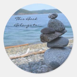 Rock Cairn Book Belongs To Sticker