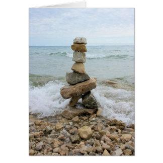 Rock Cairn - Mackinac Island Monument Card