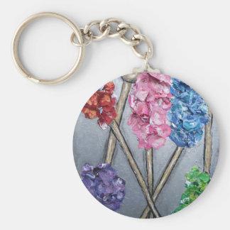 rock candy art keychain