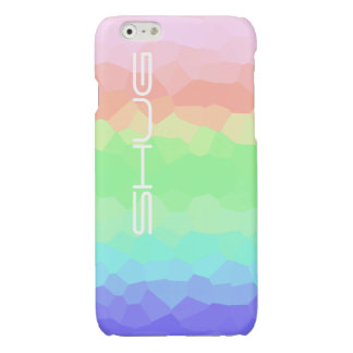 Rock Candy Rainbow Light Colored Multicolored Shug Glossy iPhone 6 Case