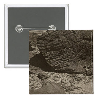 Rock carved by drifting sand, Grand Wash, Utah 2 Inch Square Button