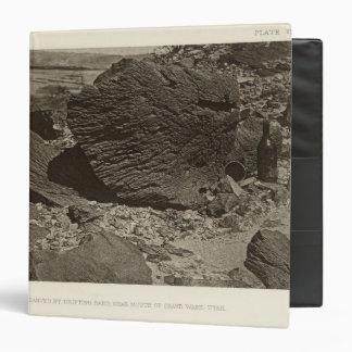Rock carved by drifting sand, Grand Wash, Utah 3 Ring Binder