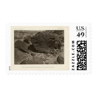Rock carved by drifting sand, Grand Wash, Utah Postage Stamps