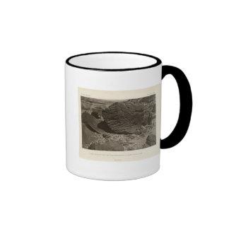 Rock carved by drifting sand, Grand Wash, Utah Ringer Mug