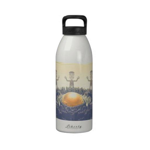 Rock Characters Water Bottle
