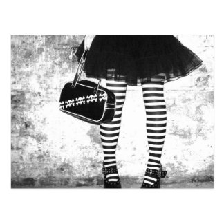 Rock Chic Stripey Postcard