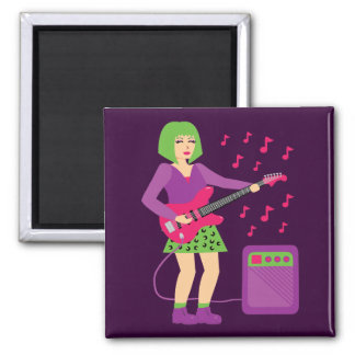 Rock Chick 2 Inch Square Magnet