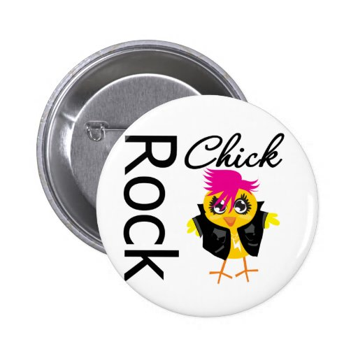 Rock Chick Pinback Buttons