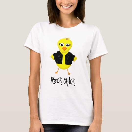 Rock Chick - Cute Cartoon Ladies T-shirt