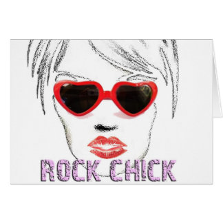 Rock Chick Glasses Card