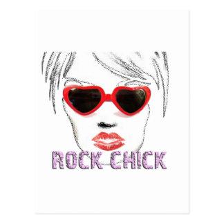 Rock Chick Glasses Postcards