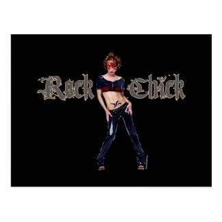 Rock Chick Grunge Art Post Cards