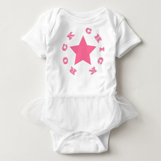 ROCK CHICK | Hot Pink Star Baby Tutu Bodysuit