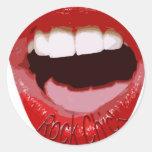 Rock Chick Lips Sticker