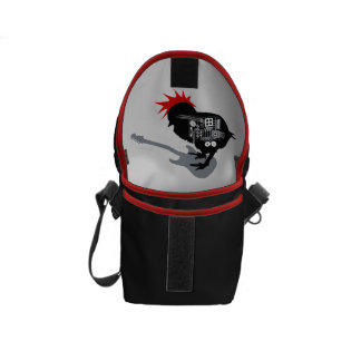 Rock Chick Mini Messenger Bag Inside Print