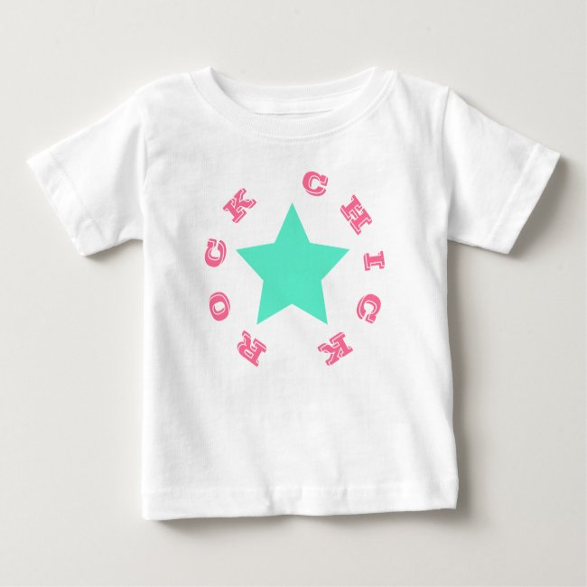 ROCK CHICK | Pink & Teal Star Baby Jersey T-Shirt